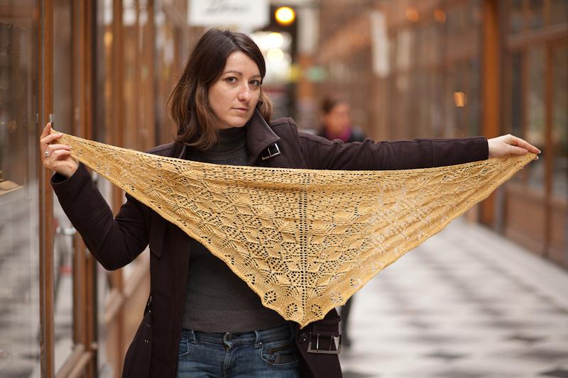 Betta loves shetland shawl