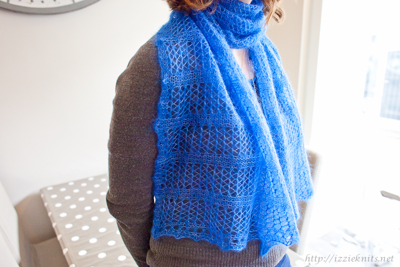 light & blue scarf